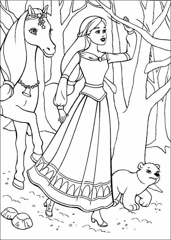 Barbie and The Magic Pegasus Pages Coloring 11