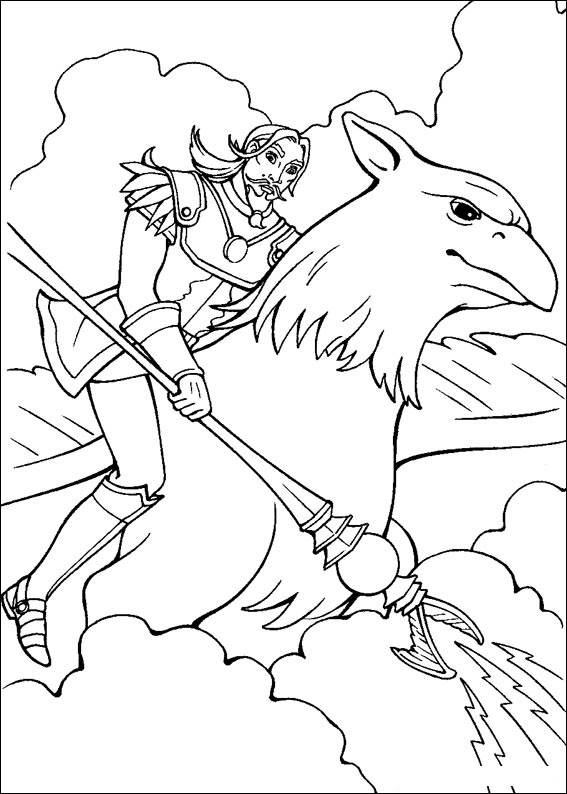 Barbie and The Magic Pegasus Pages Coloring 2
