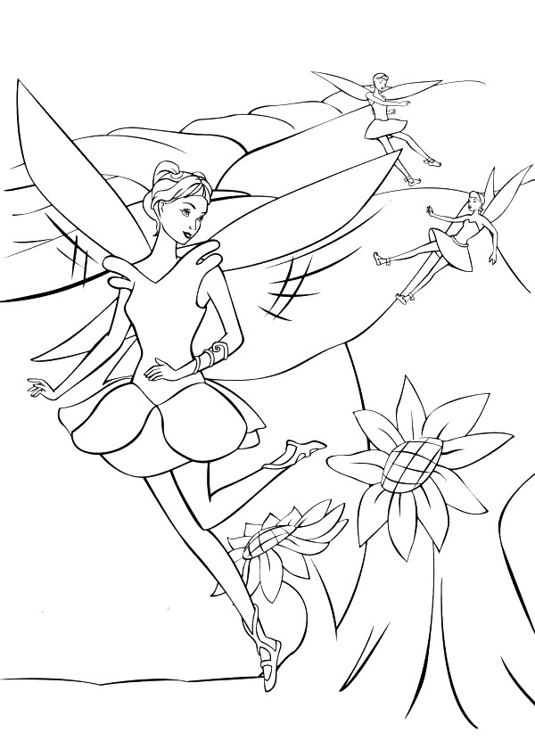 Barbie Fairytopia Pages Coloring 9