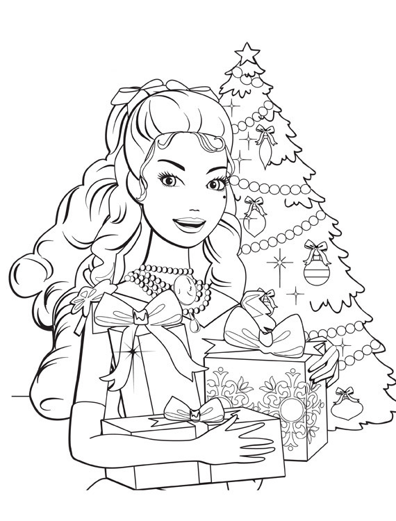 Barbie in a Christmas Carol Pages Coloring 1