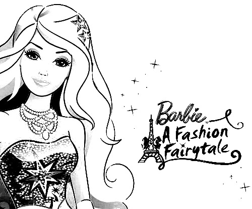 Barbie in a Fashion Fairytale Pages Coloring 1