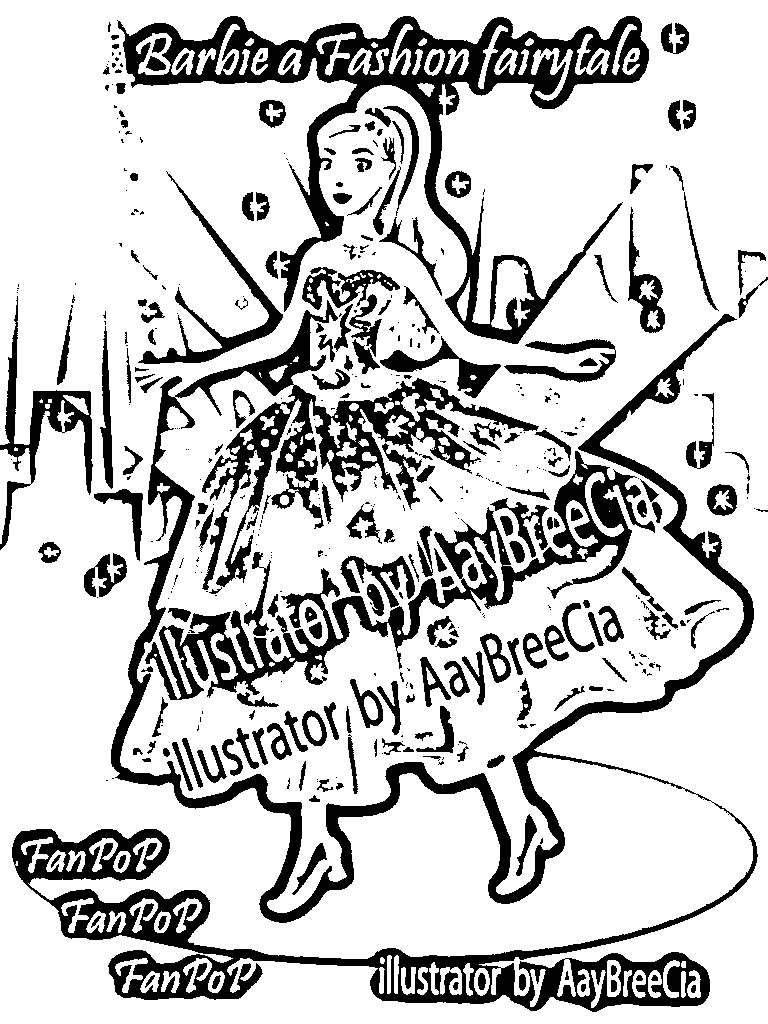 Barbie in a Fashion Fairytale Pages Coloring 10