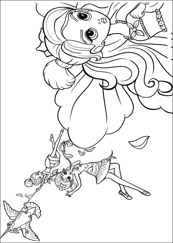 Barbie Thumbelina Pages Coloring 1