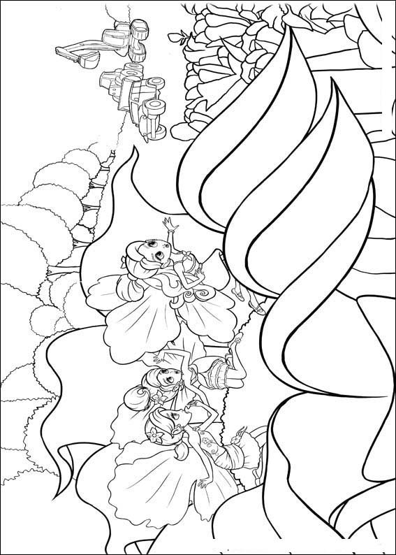 Barbie Thumbelina Pages Coloring 12