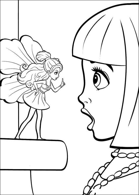 Barbie Thumbelina Pages Coloring 2
