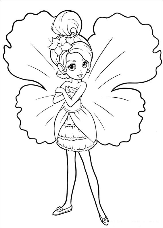 Barbie Thumbelina Pages Coloring 4