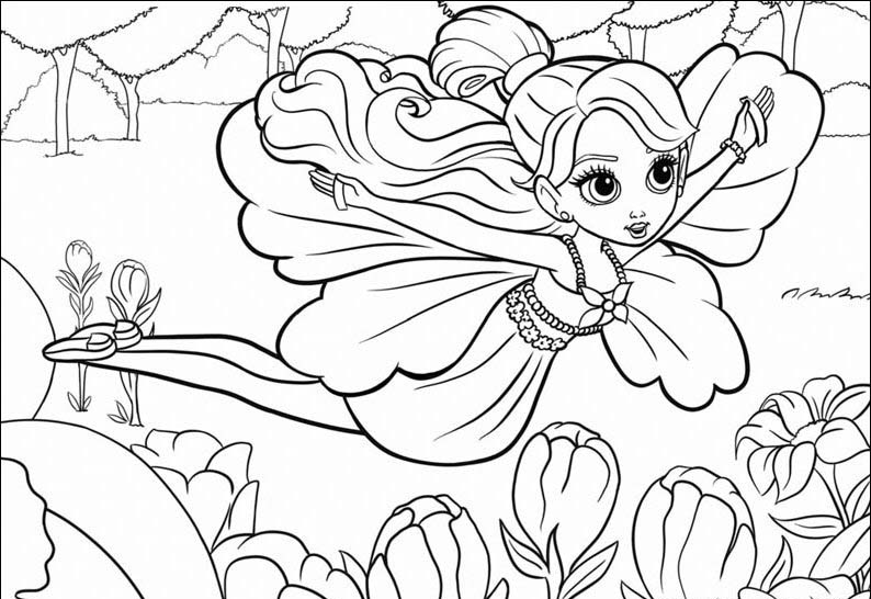Barbie Thumbelina Pages Coloring 7