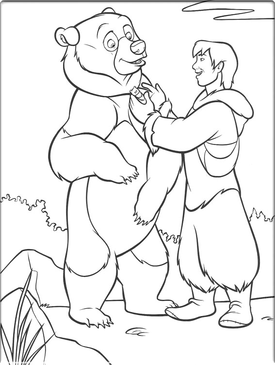 Brother Bear Pages Coloring 1