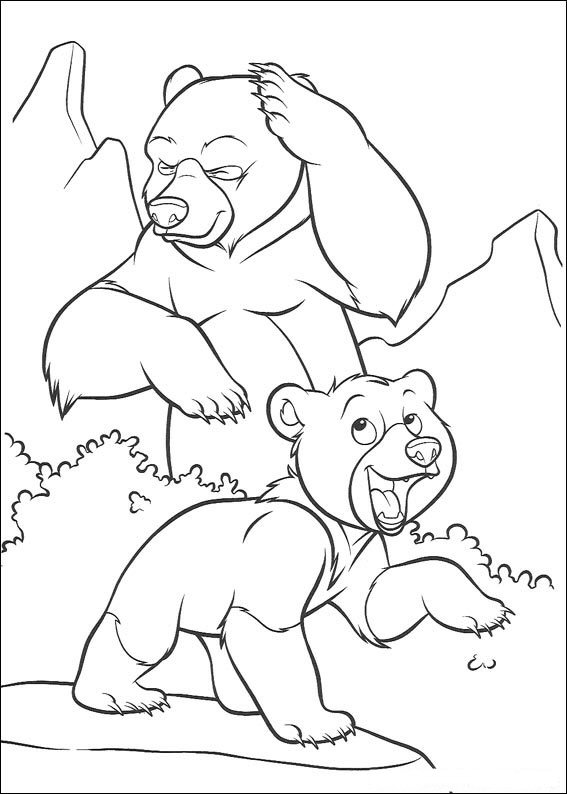 Brother Bear Pages Coloring 3
