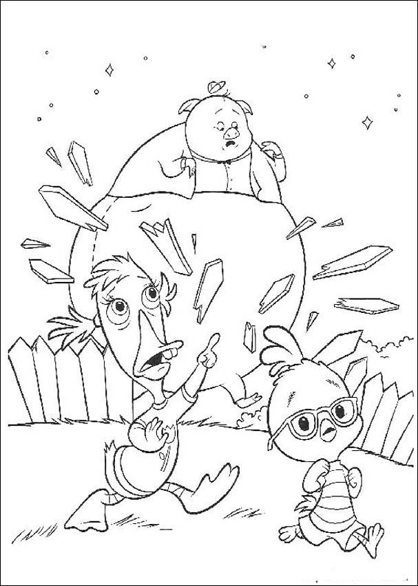 Chicken Little Pages Coloring 1