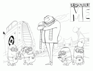 Despicable Me Pages Coloring 7