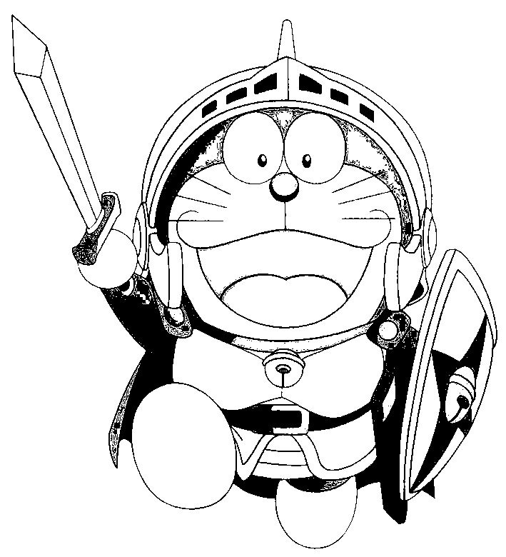 Doraemon Pages Coloring 10