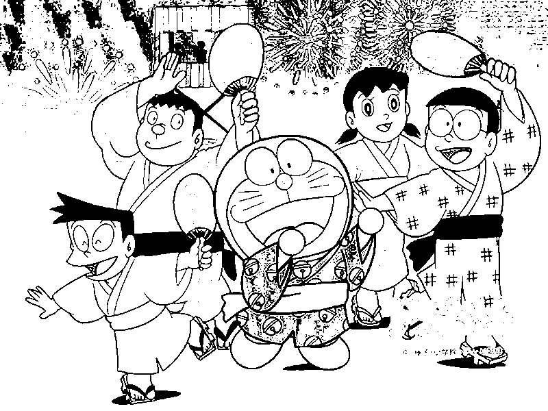 Doraemon Pages Coloring 3