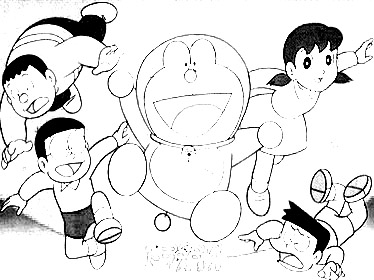 Doraemon Pages Coloring 9