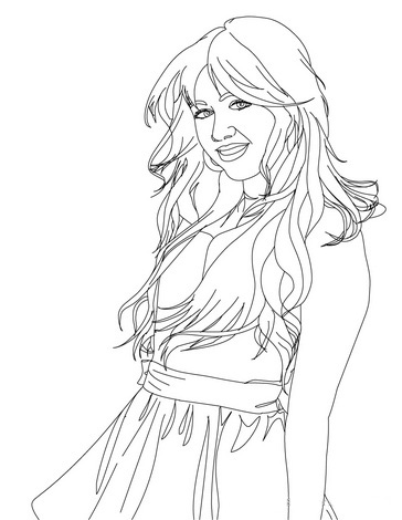 Hannah Montana Pages Coloring 9