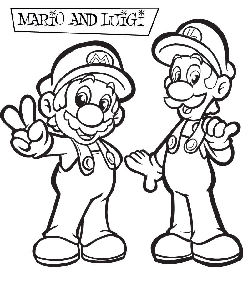 Mario Pages Coloring 1