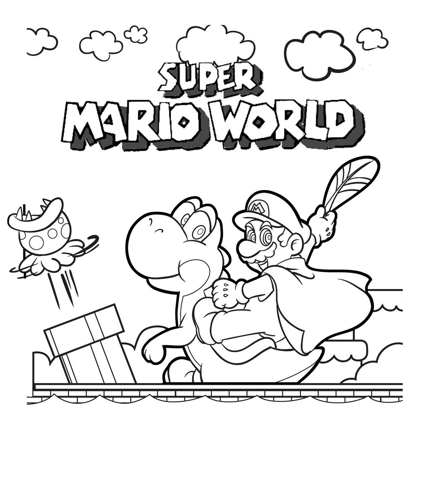 Mario Pages Coloring 2