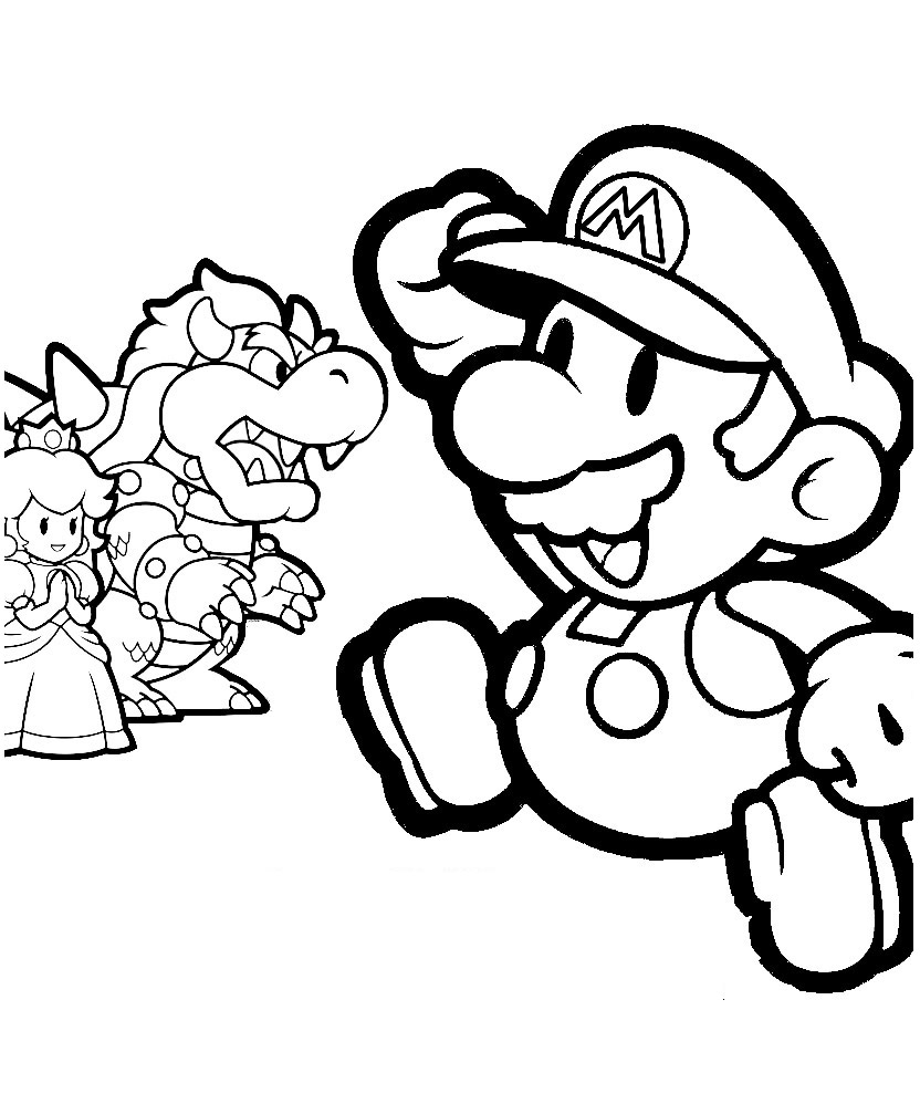 Mario Pages Coloring 6