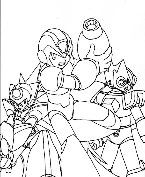 Megaman ZX Pages Coloring 3
