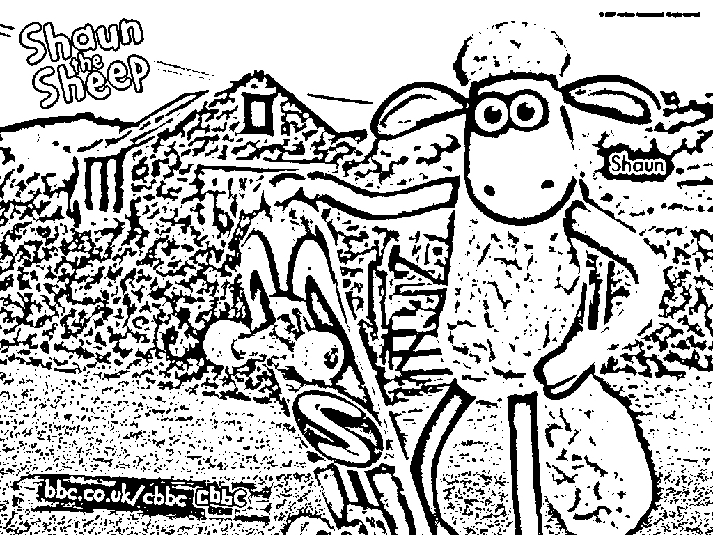 Shaun The Sheep Pages Coloring 5