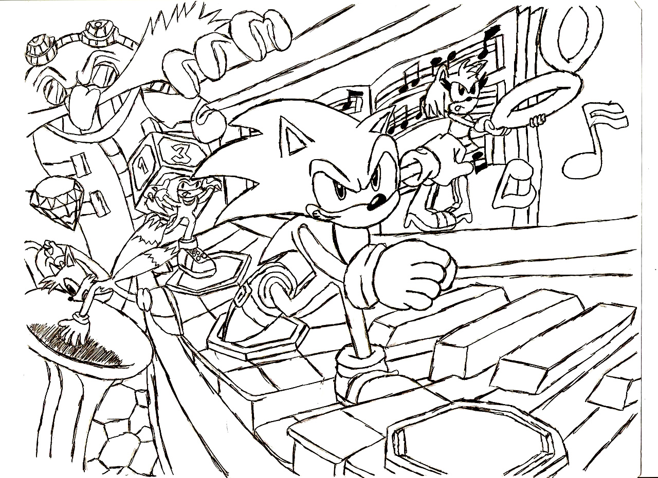 Sonic Pages Coloring 1