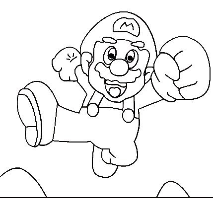 Super Mario Pages Coloring 7