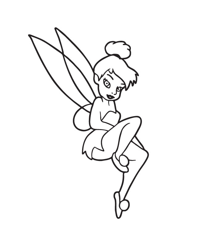 Tinkerbell Pages Coloring 11