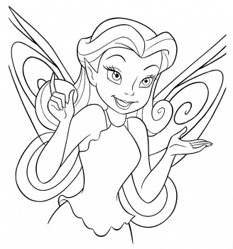 Tinkerbell Pages Coloring 3