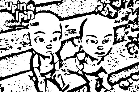 Upin Ipin Pages Coloring 2