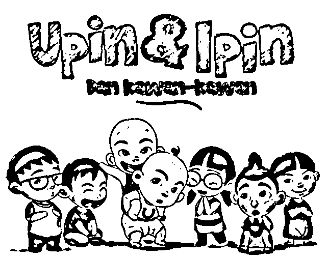 Upin Ipin Pages Coloring 3