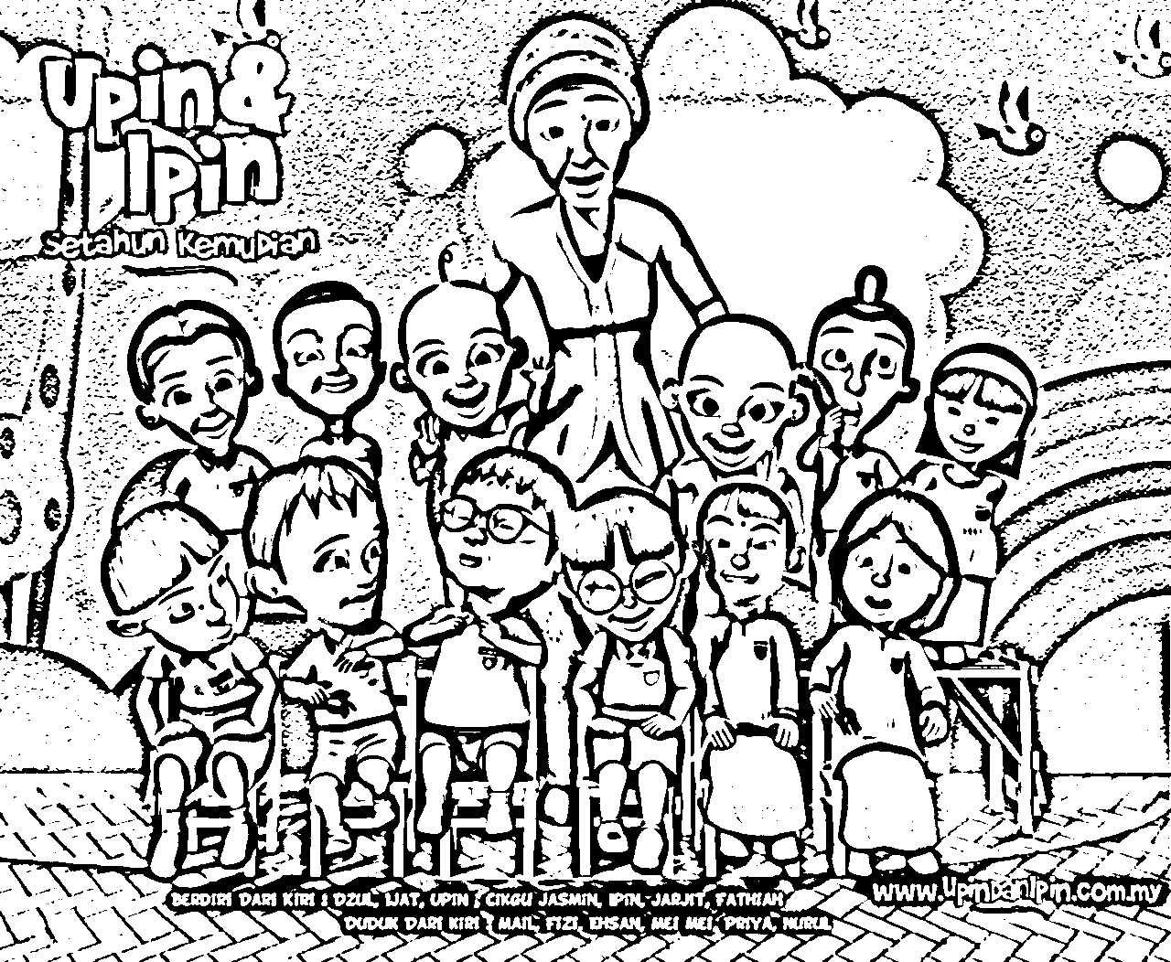 Upin Ipin Pages Coloring 7