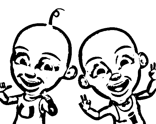 Upin Ipin Pages Coloring 9